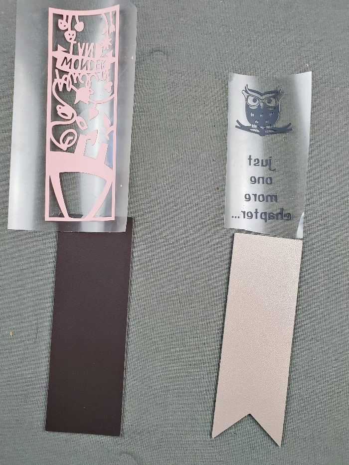cricut leather bookmarks diy
