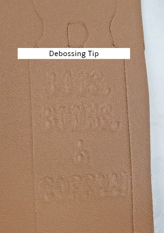cricut leather debossing