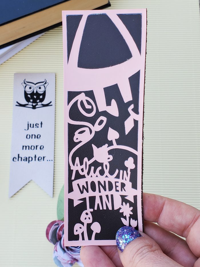 diy cricut leather bookmarks