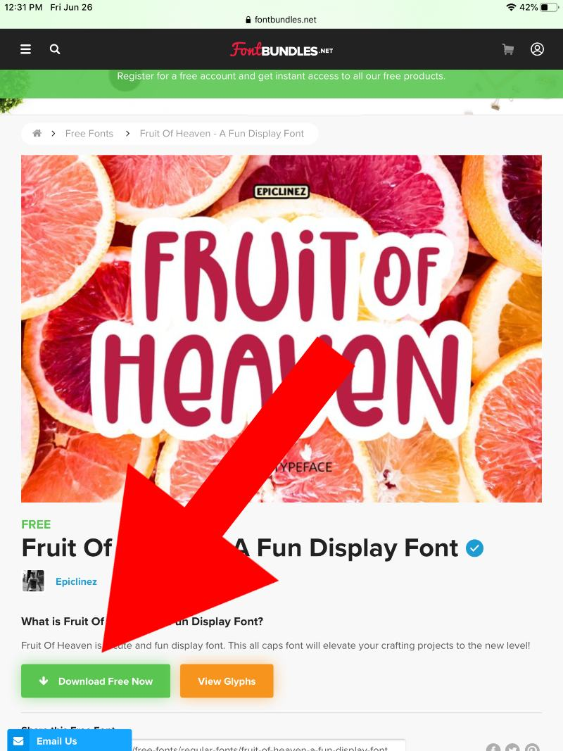 how to download fonts on ipad for cricut