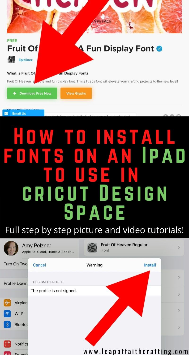 how to download fonts on ipad