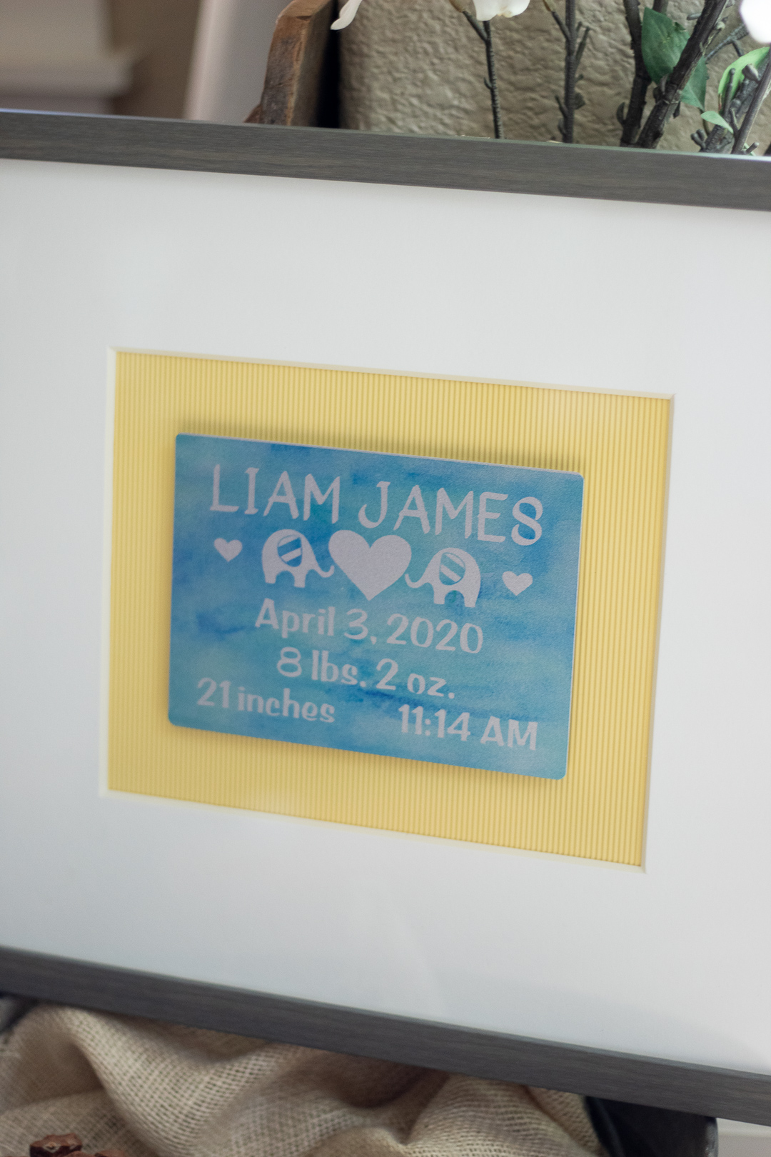 personalized baby gifts with birth information