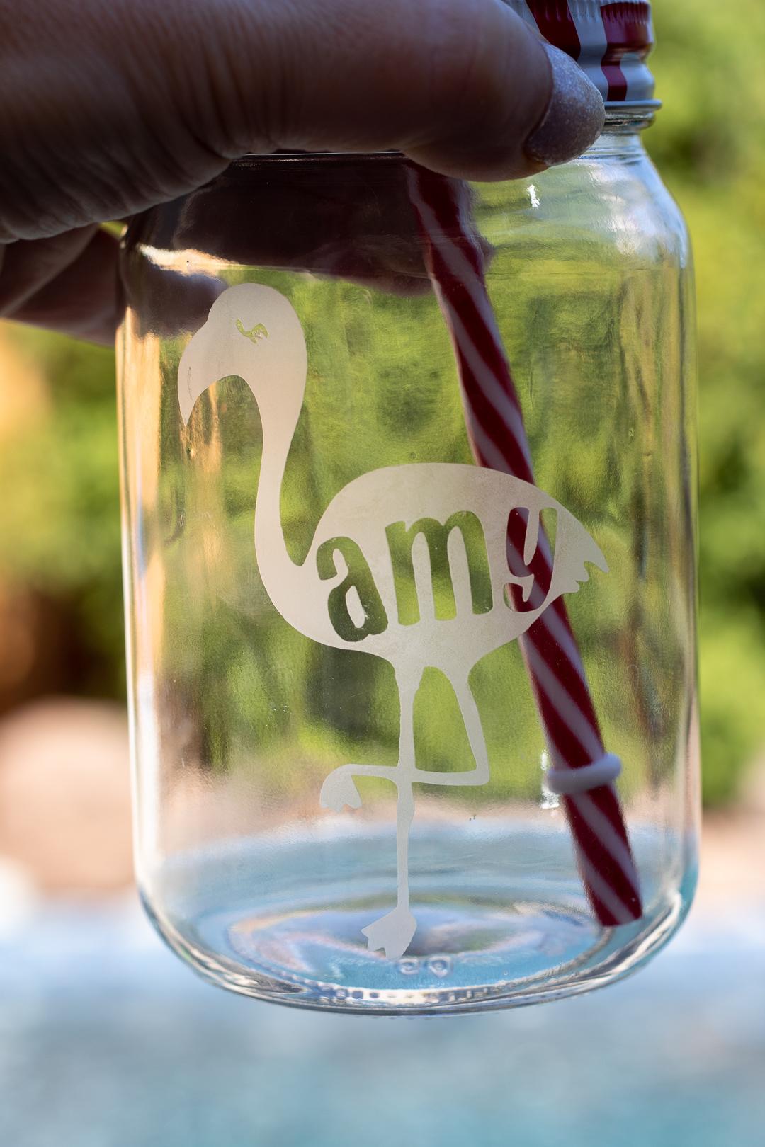 cricut glass etching
