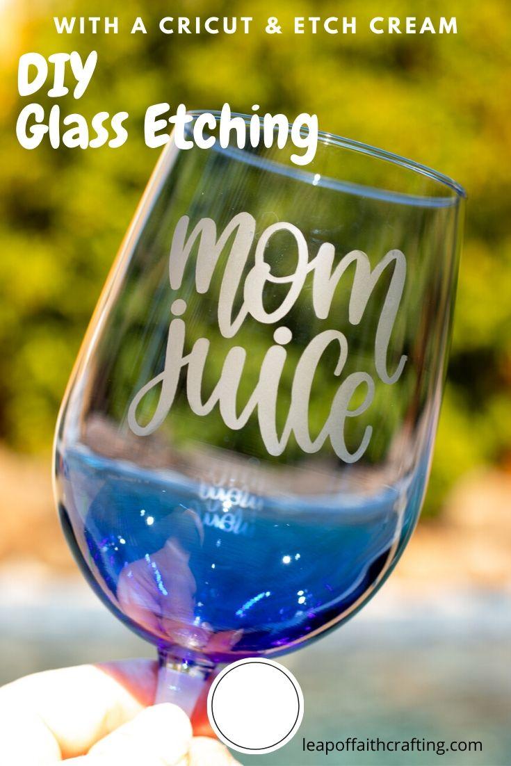 cricut glass etching pinterest