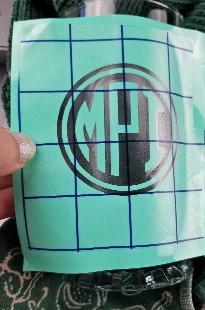 cricut glass etching with vinyl
