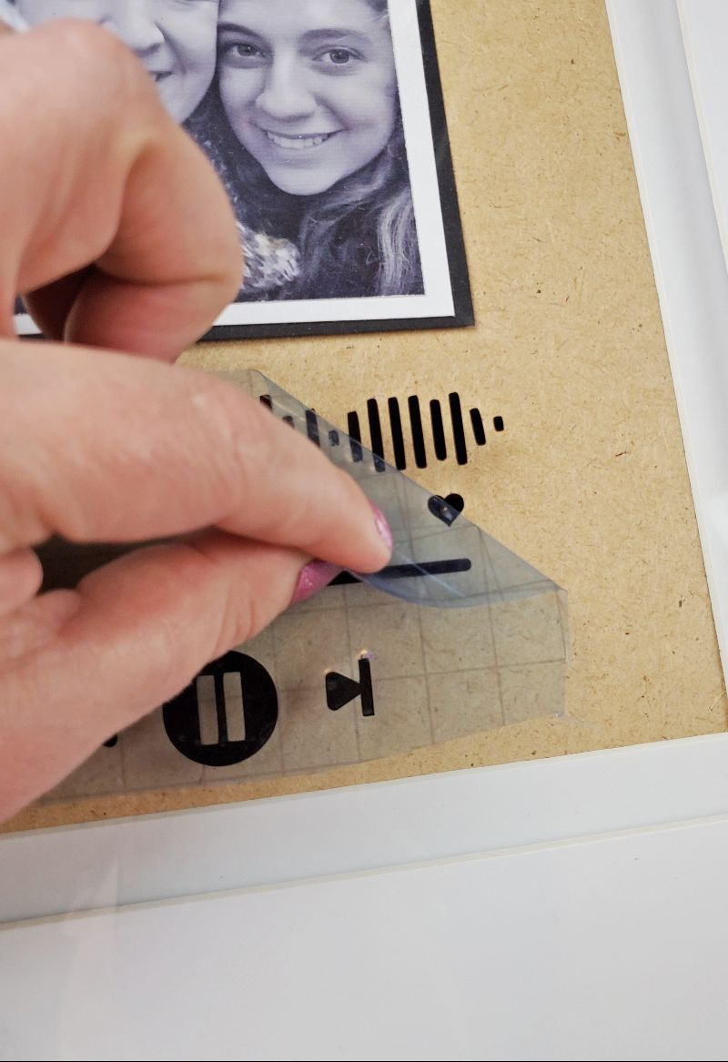 cricut glass music plaque tutorial