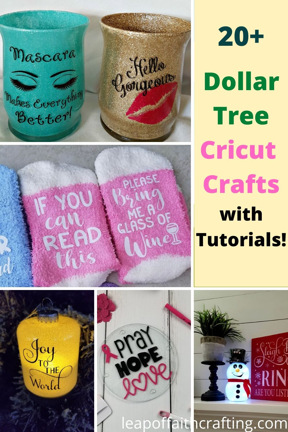 dollar tree cricut ideas