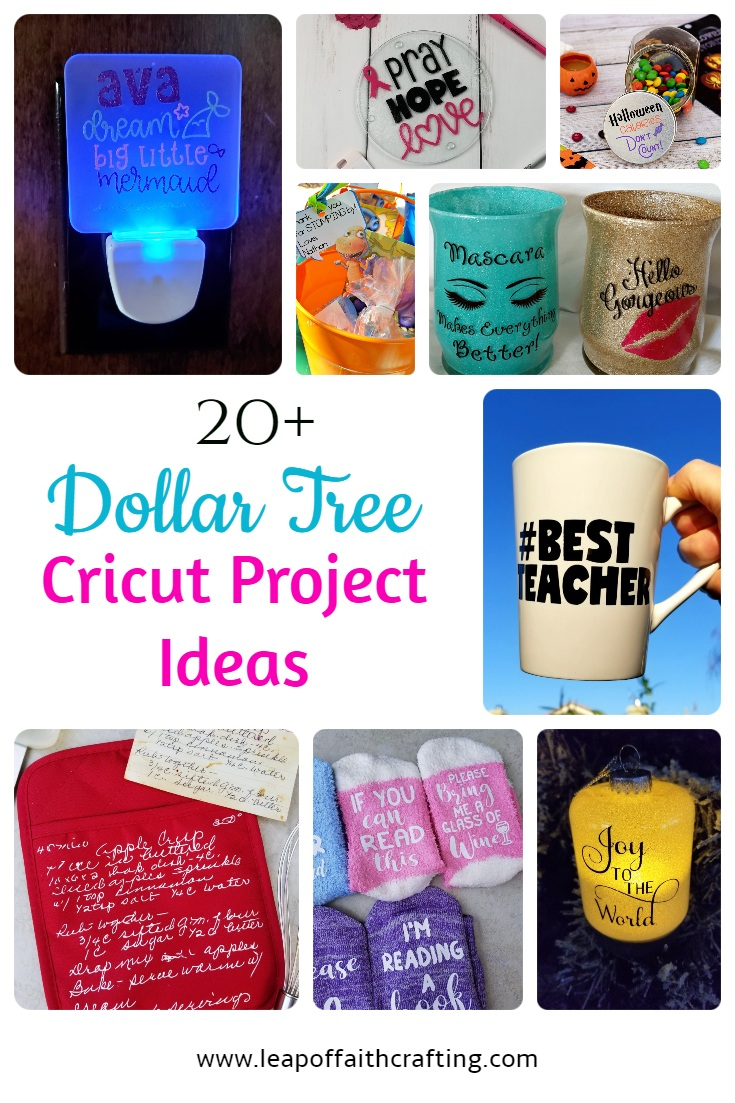 dollar tree cricut projects pinterest
