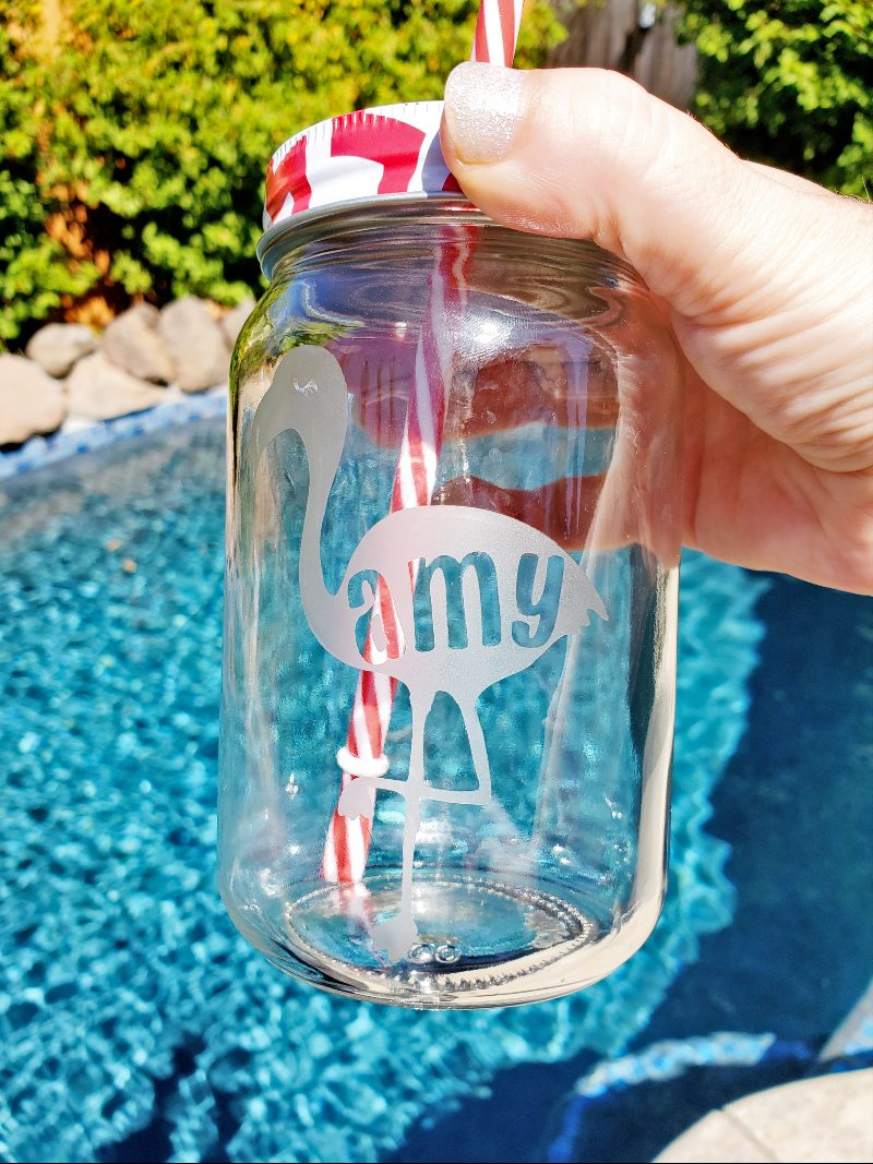 etched glass with cricut