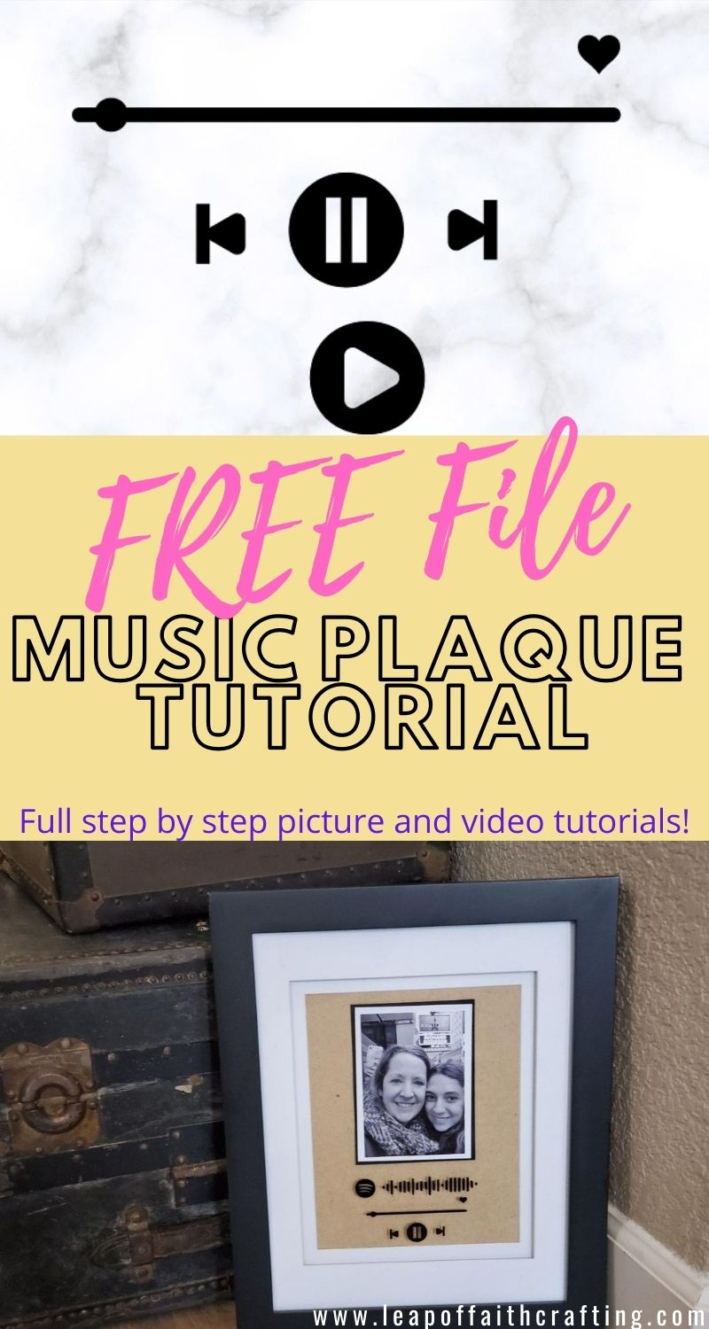 Cricut Glass Music Plaque Tutorial With Free Svg File Leap Of Faith Crafting