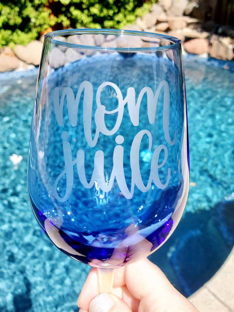glass etching on colored glass
