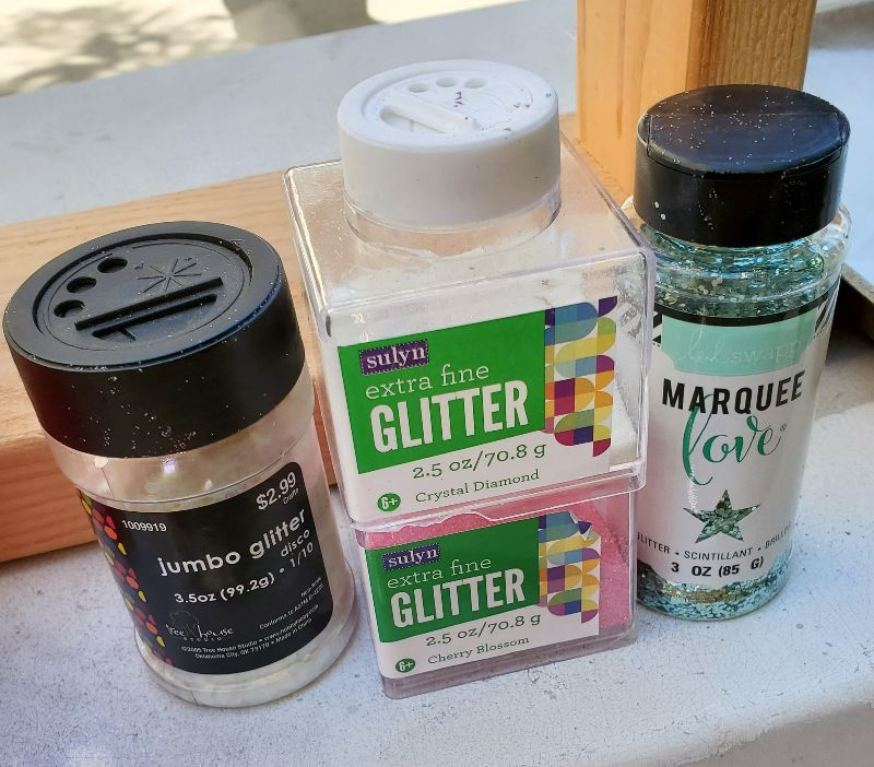 hydro dipping tumblers with glitter