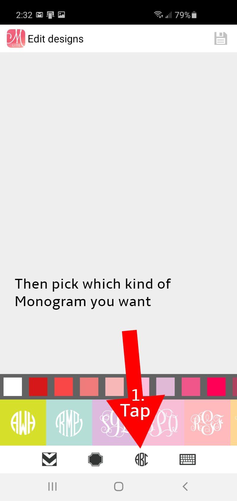 monogramit app how