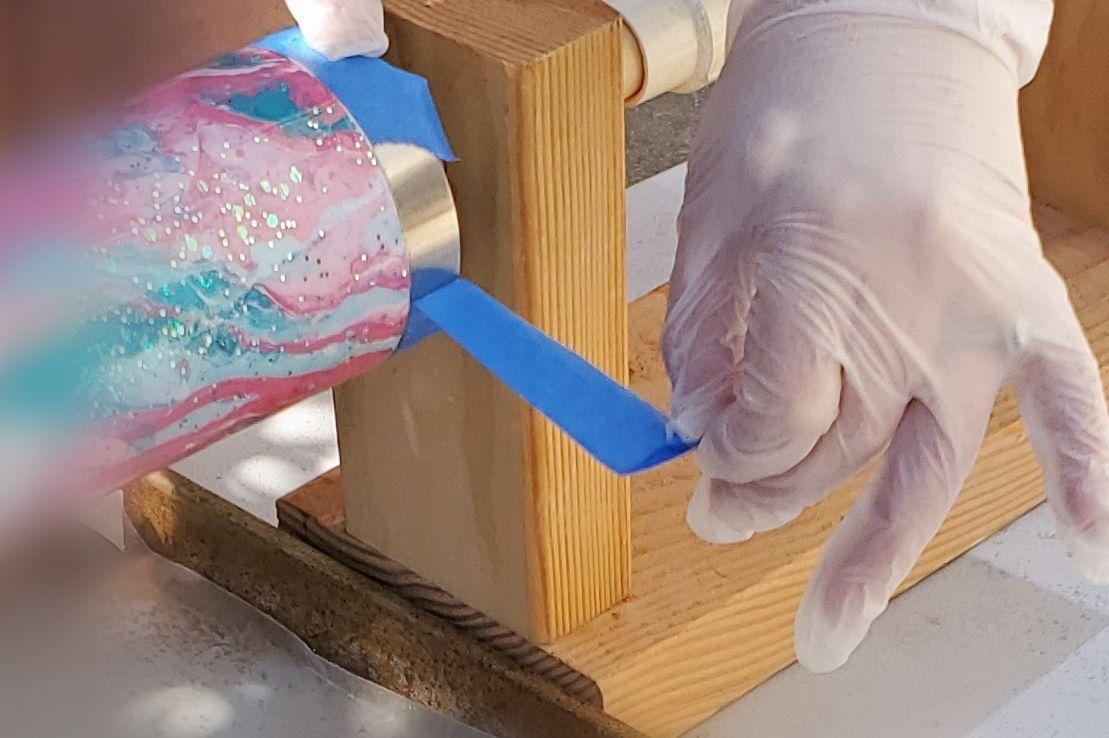 removing tape tumbler