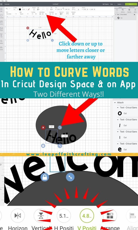 curve text on ipad cricut