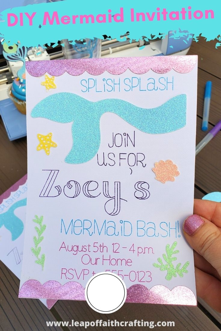 diy mermaid invitation pinterest