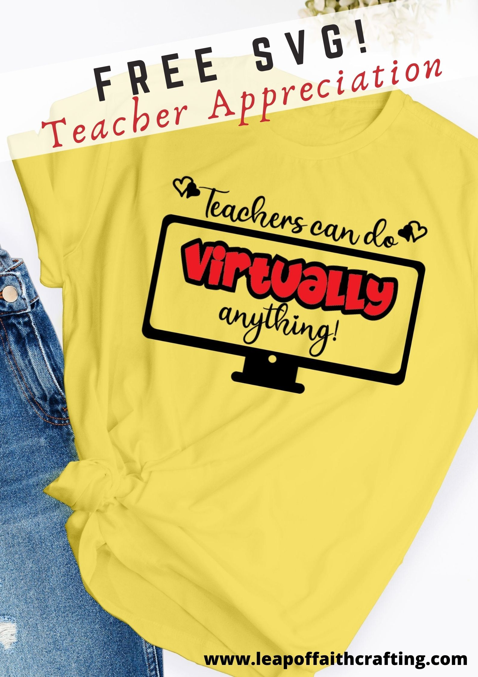 free teachers can do virtually anything svg