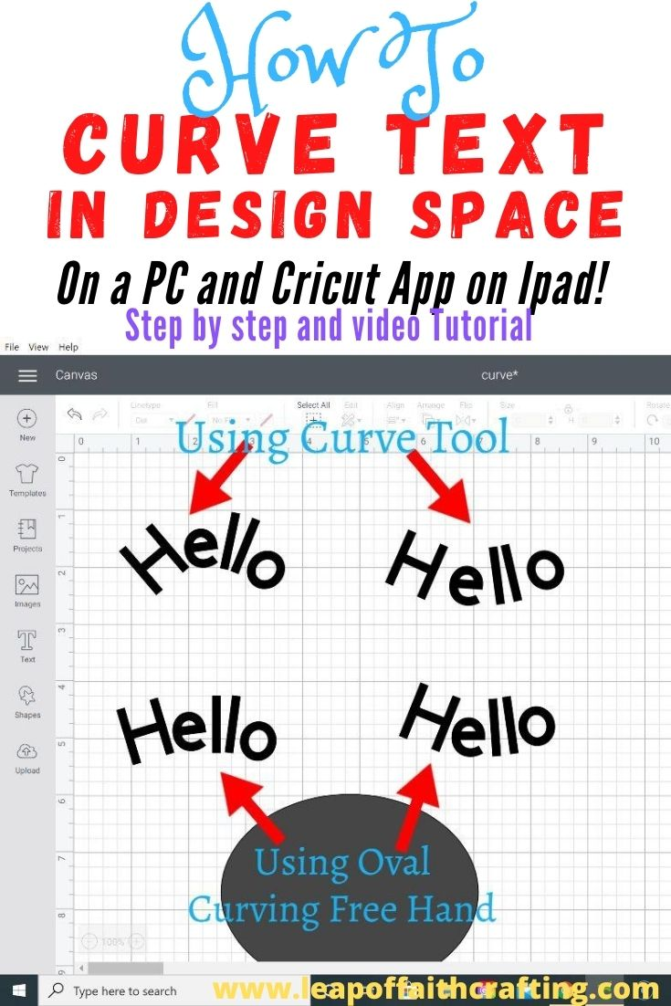 how to curve text in cricut pinterest