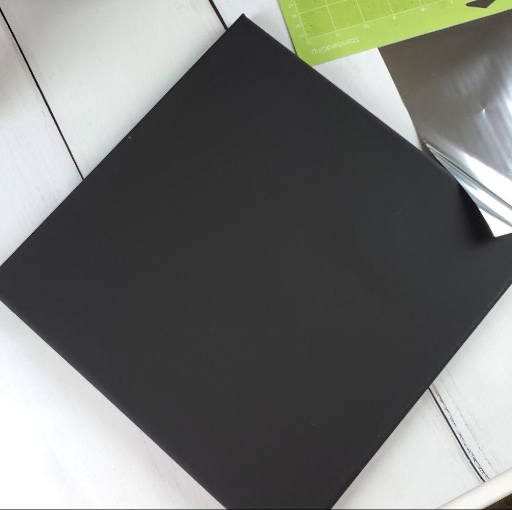 black x canvas