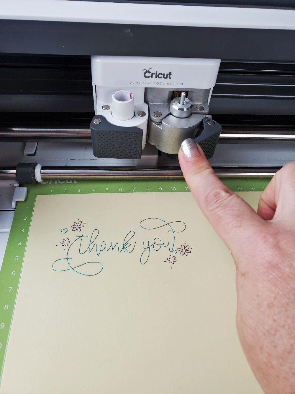 cricut foil thank you card