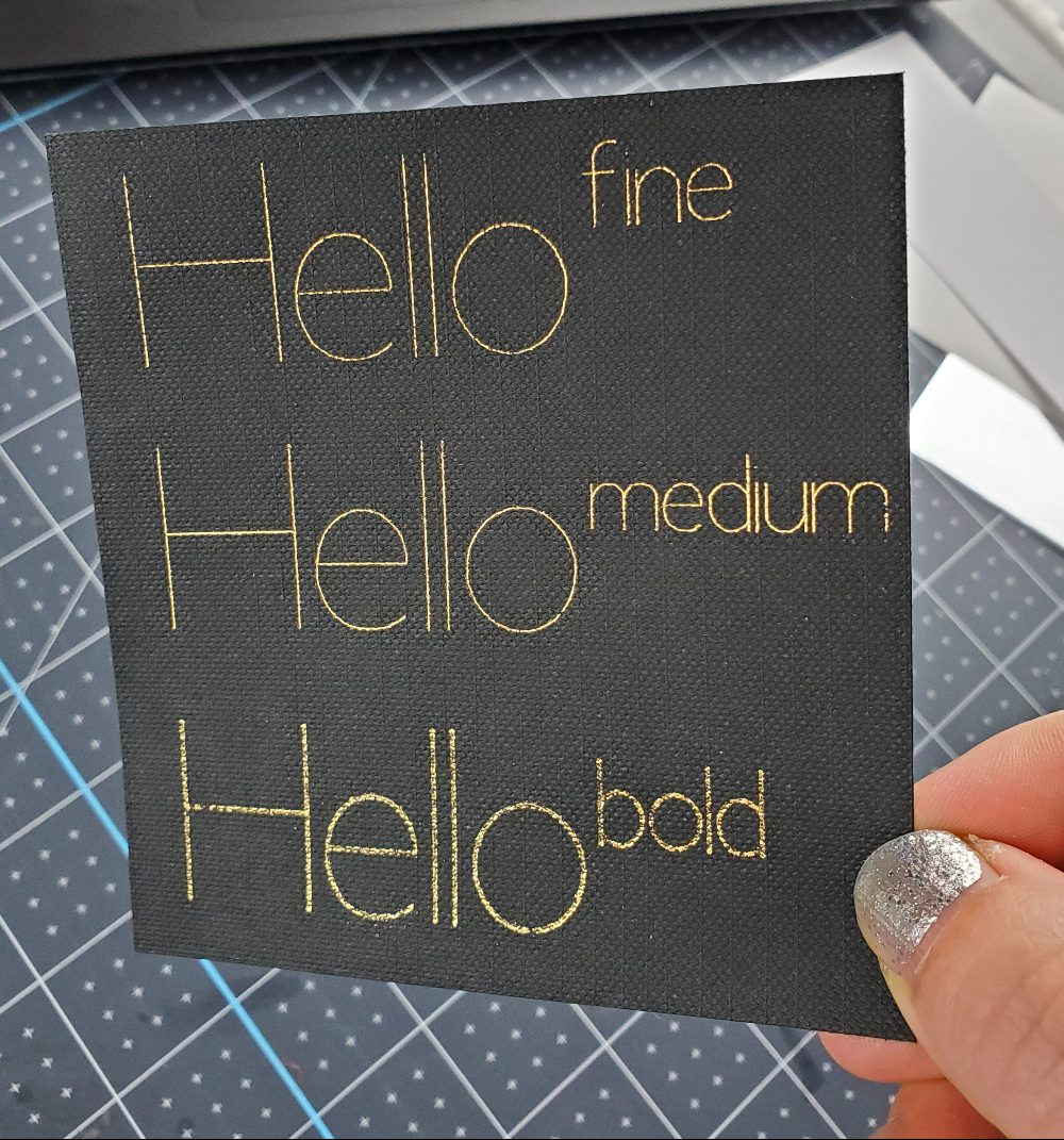difference between foil tips cricut