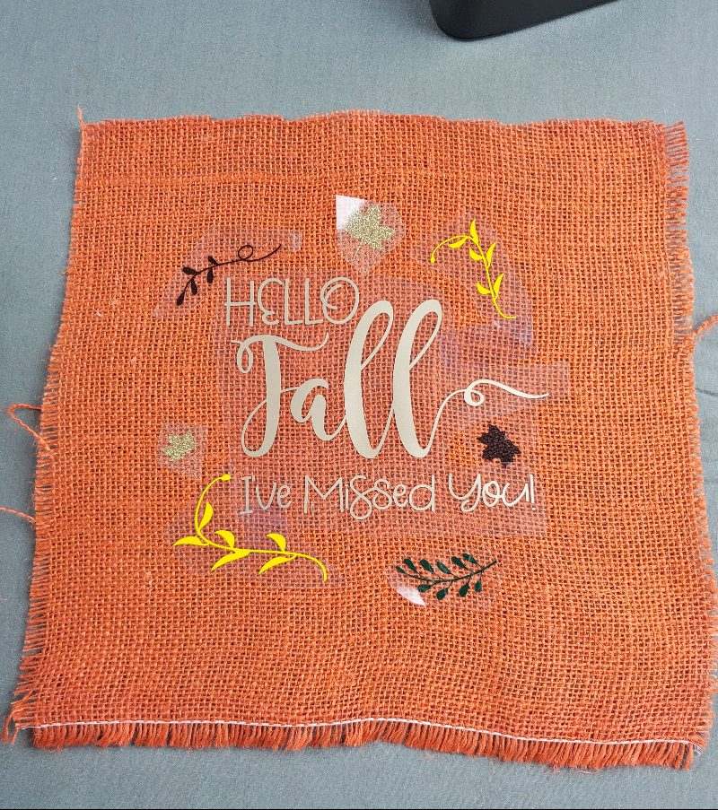 diy fall burlap
