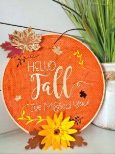 embroidery hoop art cricut