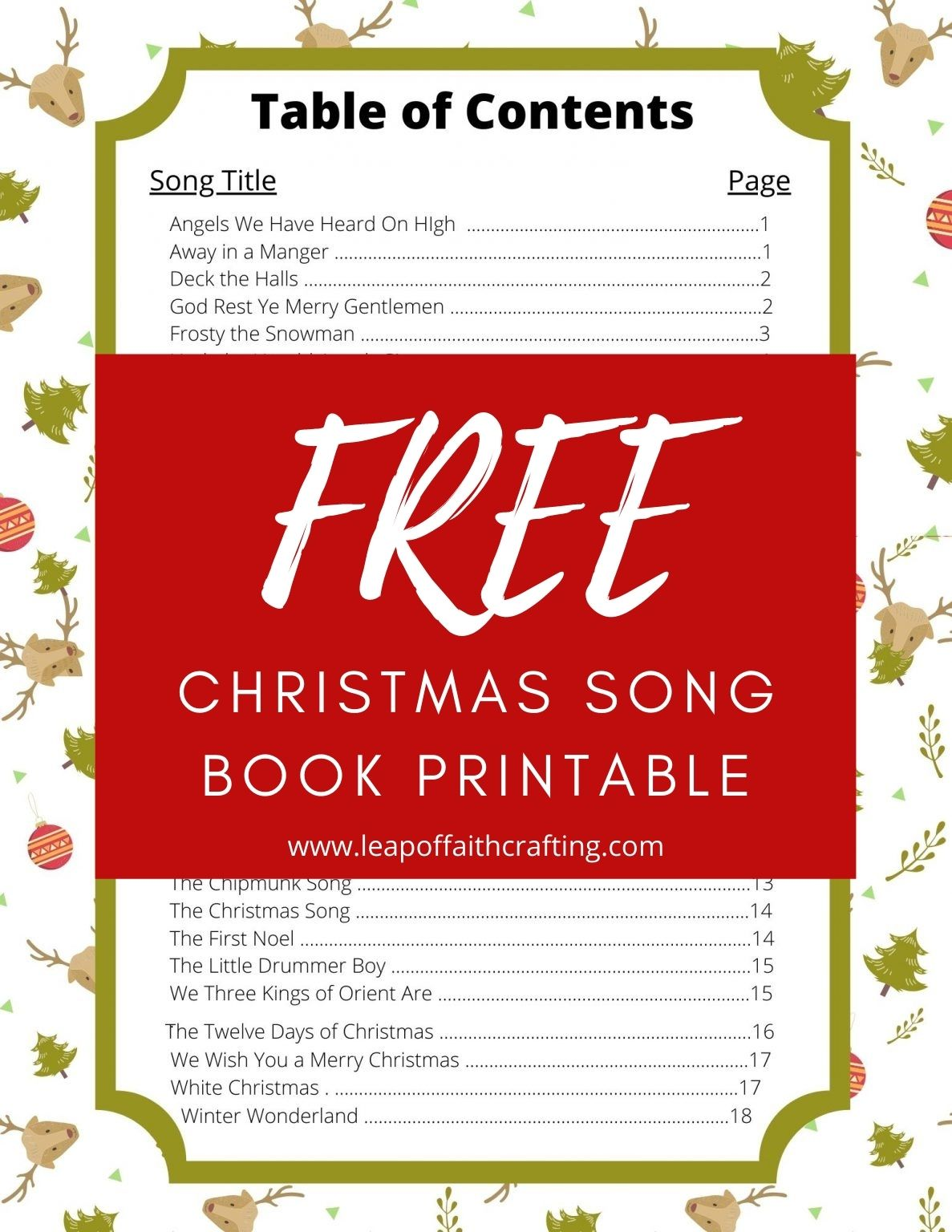 free christmas song book pdf