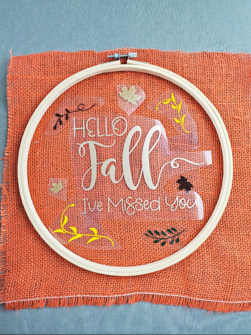 hello fall svg for wreath