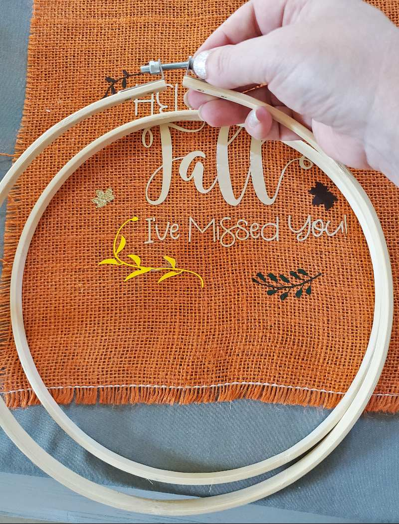 wreath hoop diy fall