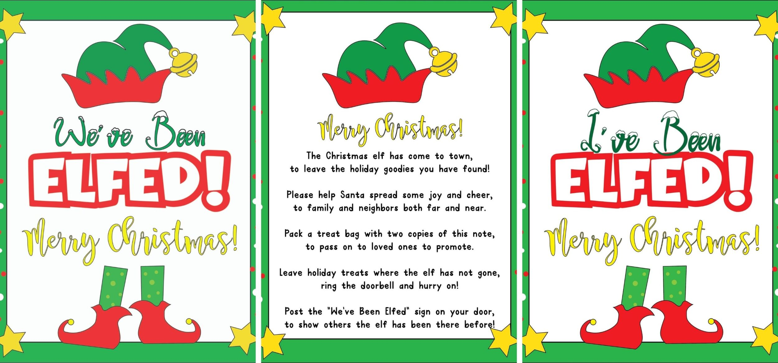 youve been elfed free printable