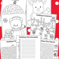 christmas activity pages