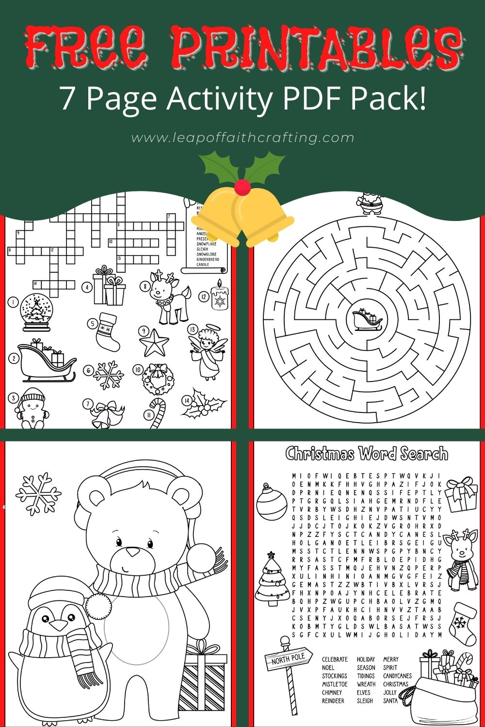 Free Christmas Worksheets Coloring Sheets Word Search More Leap Of Faith Crafting