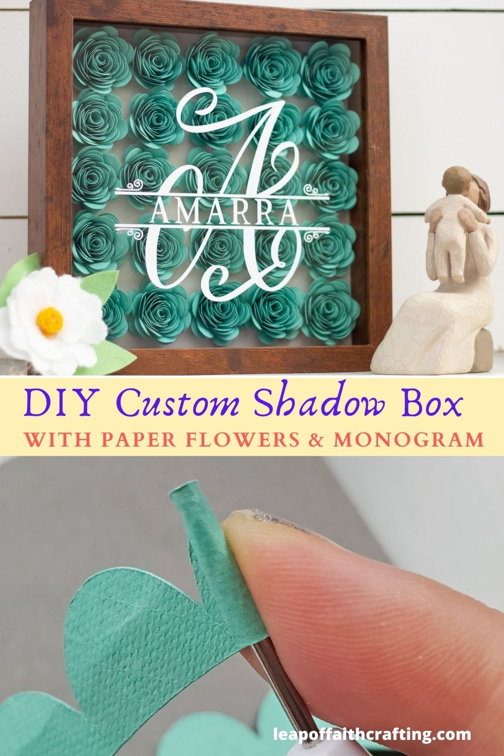 cricut shadow box baby