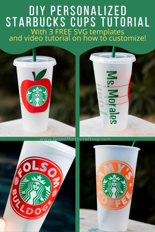 cricut starbucks cups pinterest