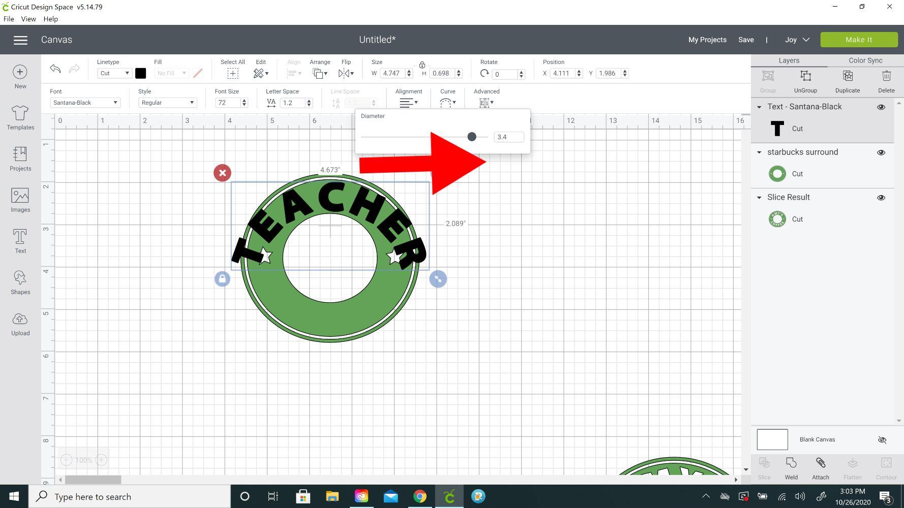 curving starbucks editable template