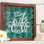 flower shadow box idea