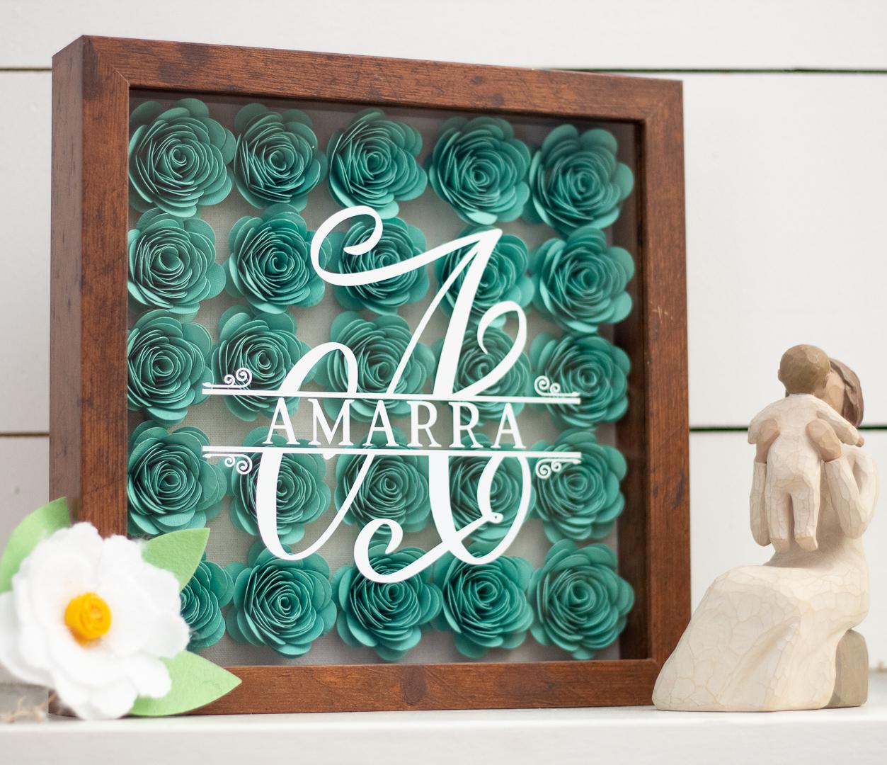flower shadow box idea