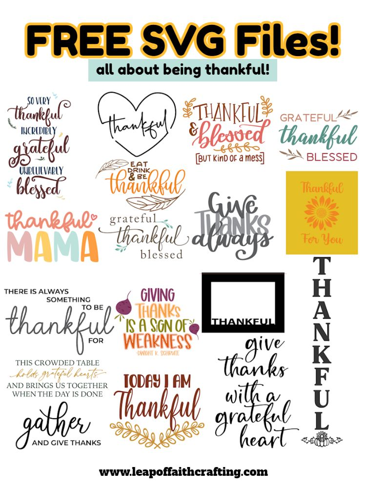 free thankful cut files pinterest