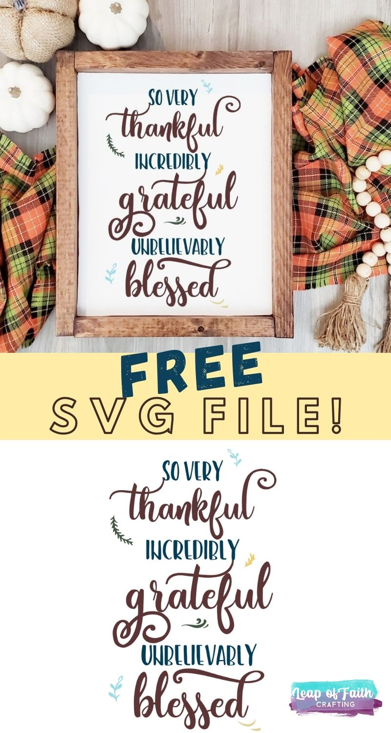 grateful thankful blessed svg free