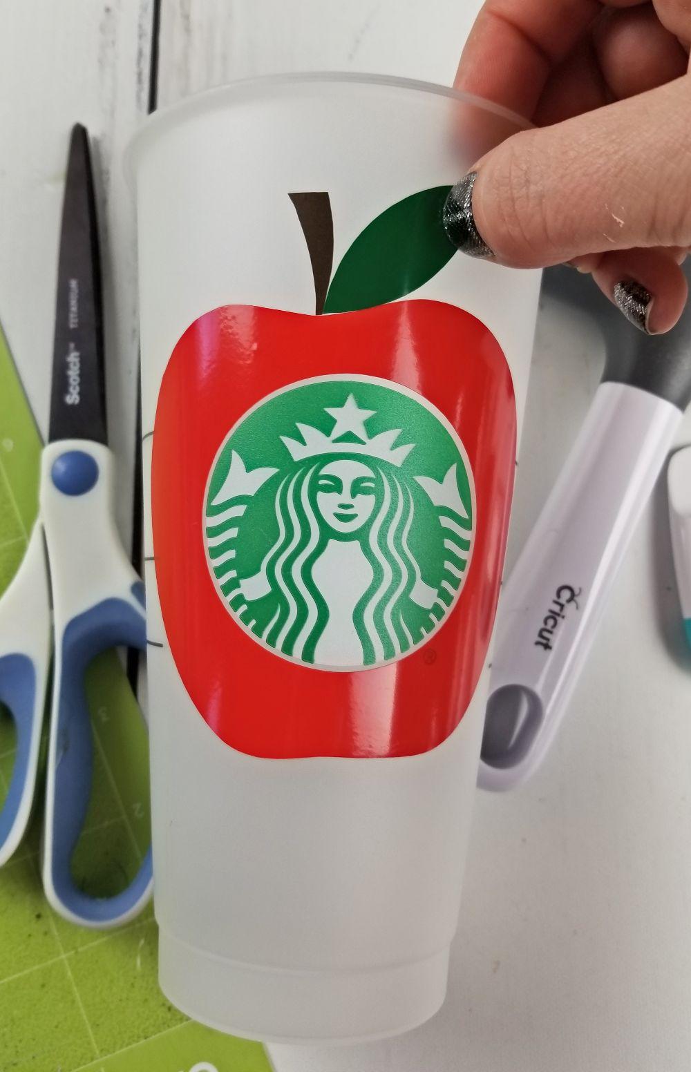 starbucks cup cricut teacher