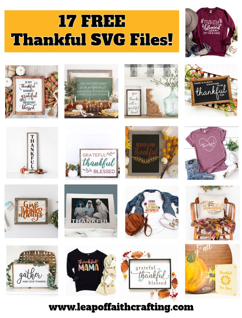 thankful svg files free