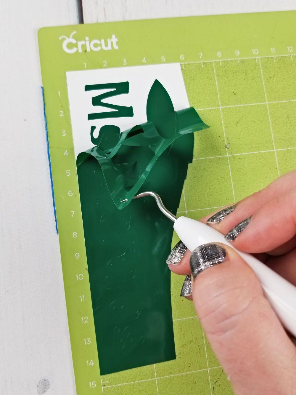 weeding adhesive vinyl cricut