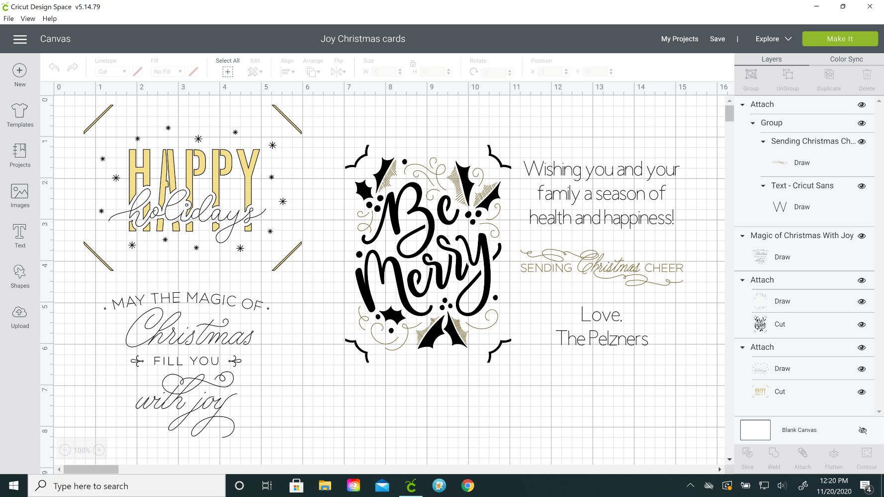 christmas cards design space