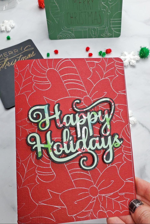 cricut christmas cards foil