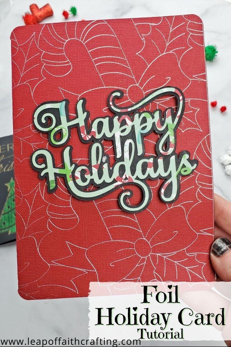 cricut christmas cards pinterest