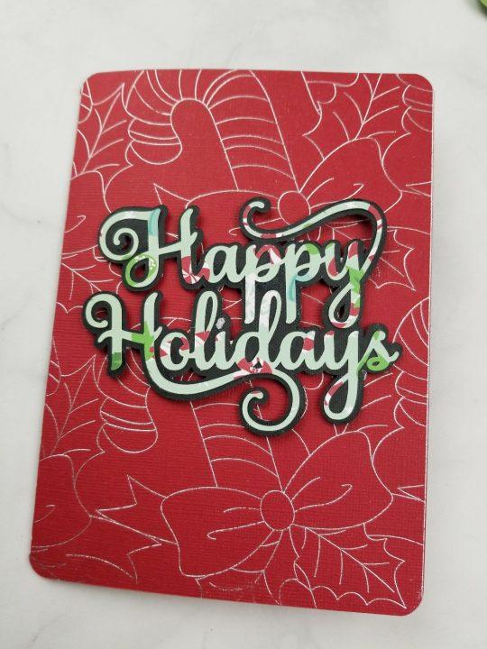 cricut christmas cards with foil