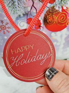 cricut happy holidays svg file