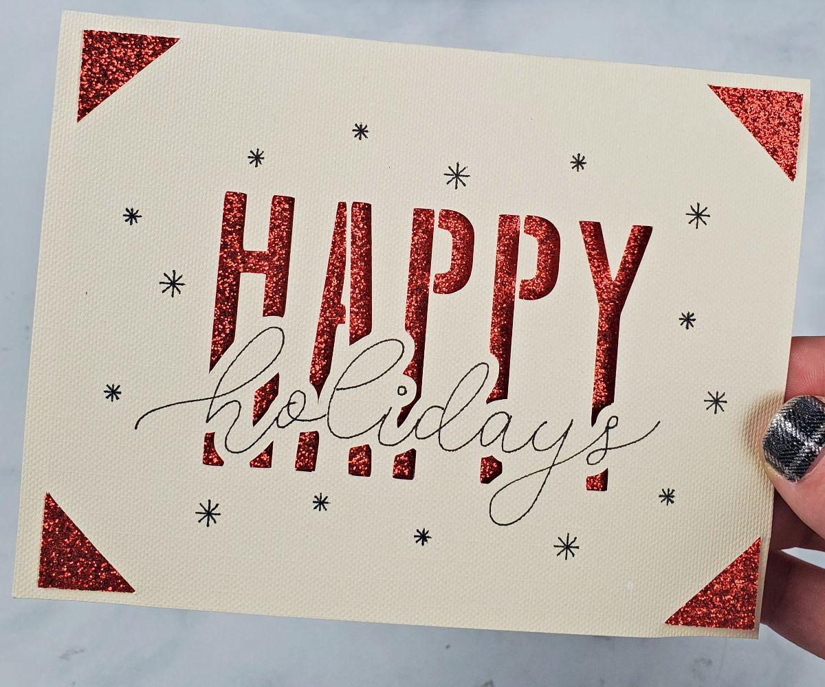 happy holidays cricut joy