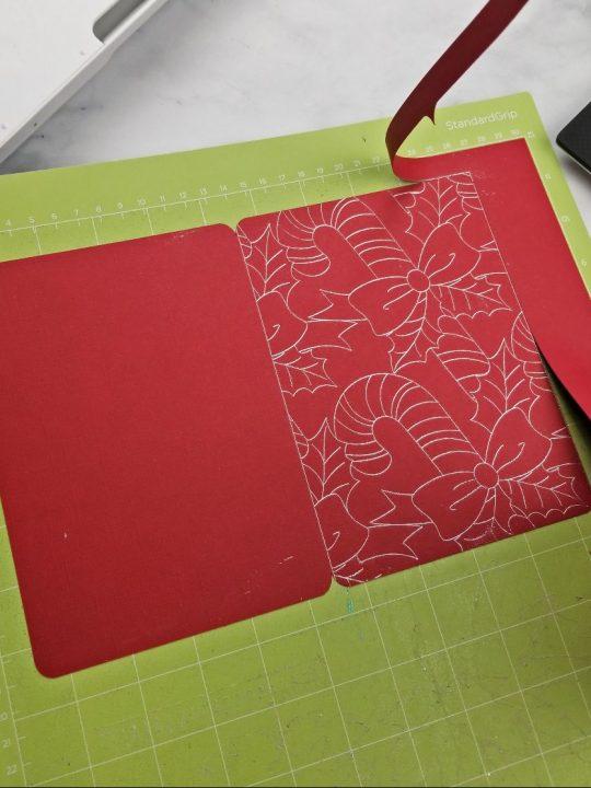 how to make christmas card with cricut